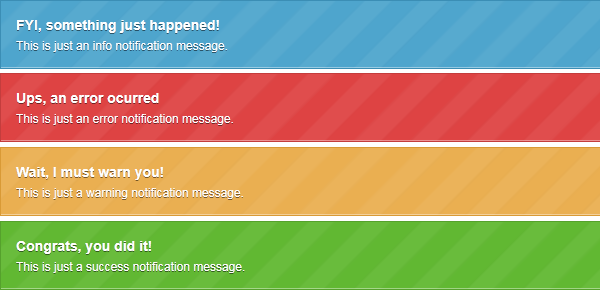 notificaciones jquery css3