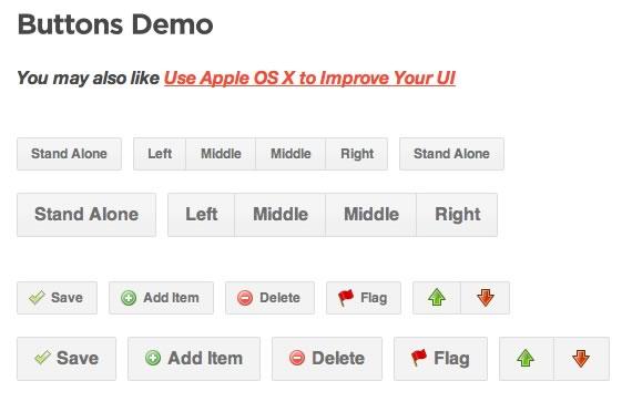 Vista previa de la variedad de botones incluídas en el paquete elaborado con CSS