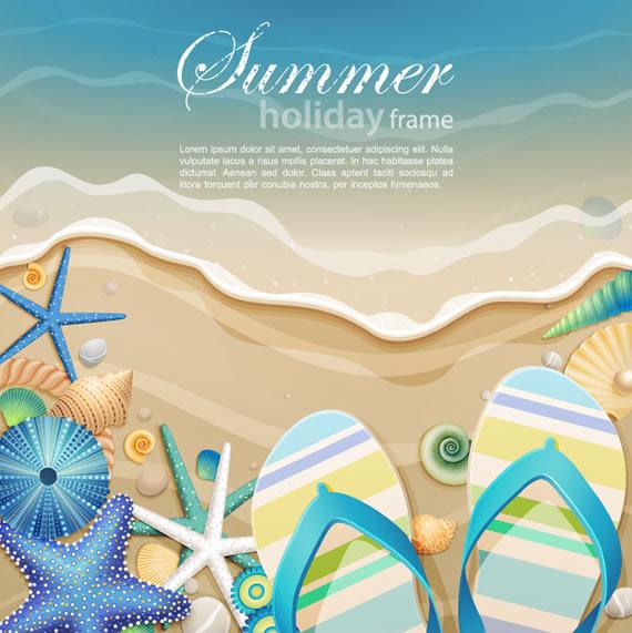Composiciones vectorizadas de verano