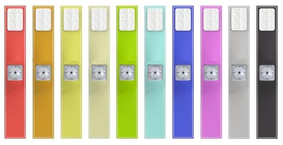 Muestrario de relojes de goma en diversos colores