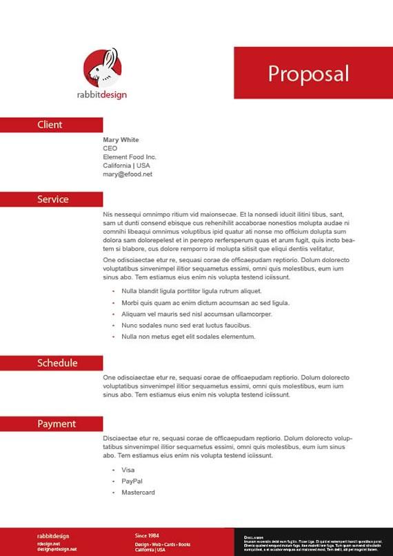 Plantilla para propuesta laboral para InDesign - Kabytes