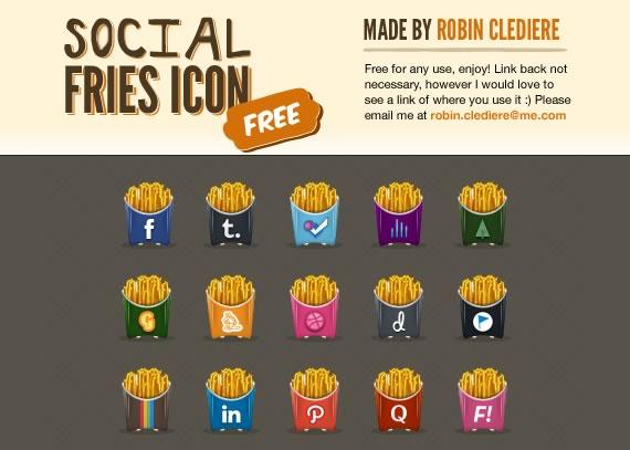 Vista previa de iconos en forma de paquetes de papas fritas