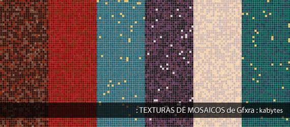 Muestrario de texturas de mosaicos o venecitas en varios colores