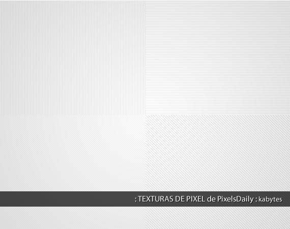 Muestrario de cuatro texturas sutiles diferentes aplicadas sobre fondo gris muy claro