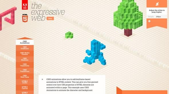 Animaciones CSS3 HTML5 de Adobe