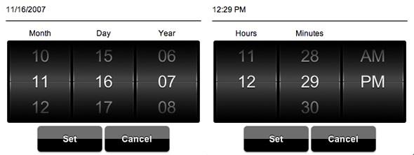 selector fecha animado jQuery