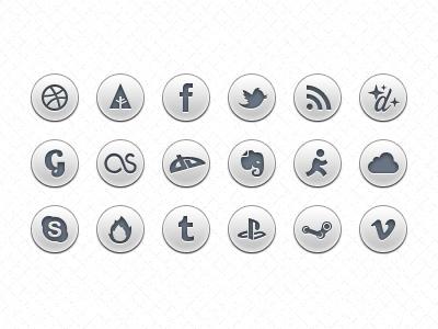 set iconos sociales gratis