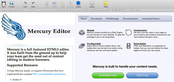 editor gratis html5 rails3