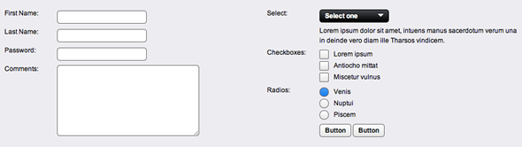 framework formularios jQuery