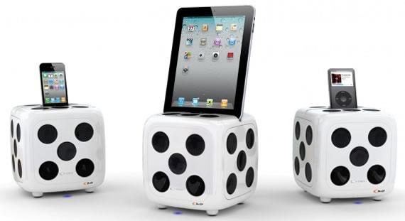 Vista previa de dock para iPod, iPhone y iPad en forma de dado