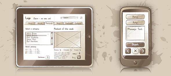 ilustración móvil iPad iPhone