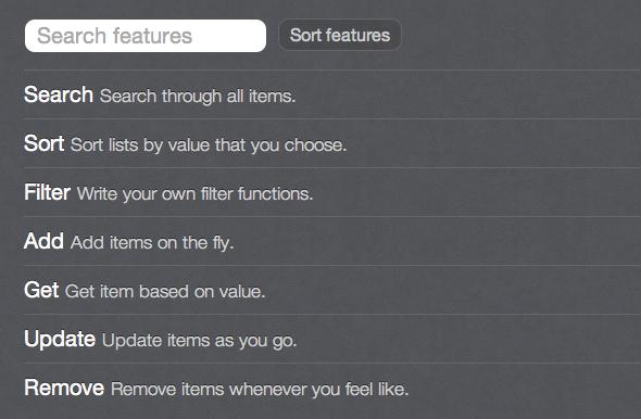 Filtrar, ordenar y buscar en listas con Javascript