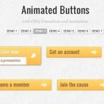 Vista previa de una de las animaciones de botones en CSS3