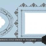Formas predeterminadas de marcos vintage