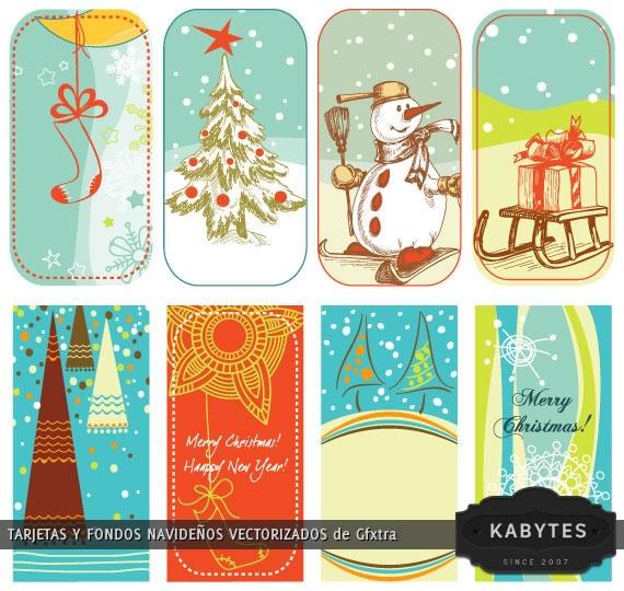 Vista previa de las tarjetas con forma de señaladores estilo retro