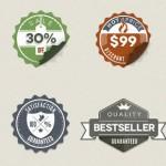 Vintage stickers badges gratis