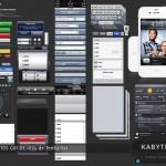 Vista previa del paquete de elementos para interfase de usuario de iOS5 en PSD
