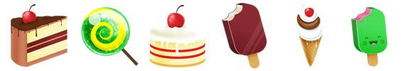 Iconos de alimentos en PNG