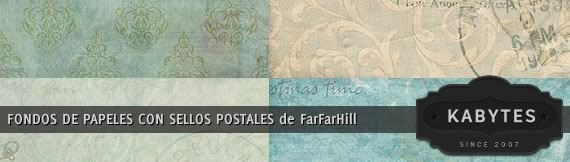 Vista previa de fondos de papeles con sellos postales