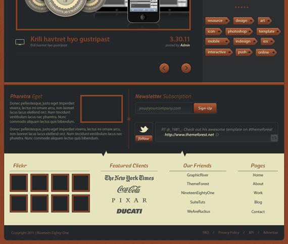 Vista previa de footer de Digital Rust