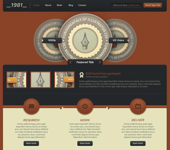 Vista previa de plantilla para web Digital Rust