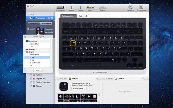 Vista previa del software de configuracion de los teclados Optimus