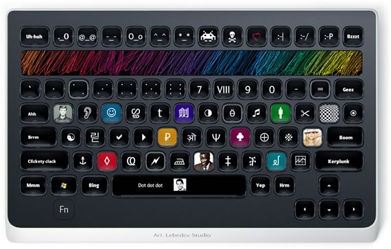 Vista previa de teclado Optimus Populyaris