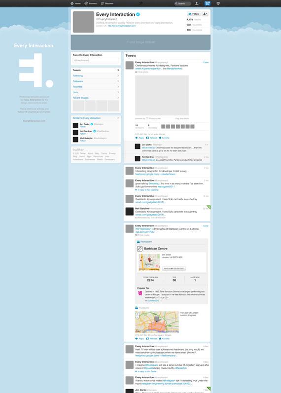 Vista previa de plantilla del nuevo Twitter