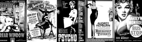 Brushes de posters de películas retro