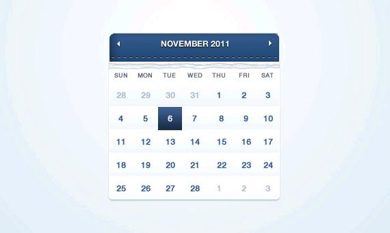 calendario gratis formato PSD