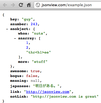 formatear visualizacion documento json en Chrome y Firefox