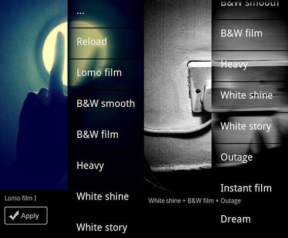 Efectos en fotos para Android