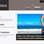 Vista previa de página principal de Franciumous, plantilla para Wordpress
