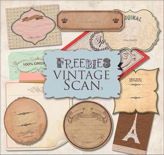 Muestrario de etiquetas estilo vintage