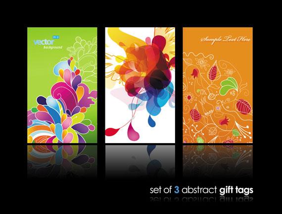 Vista previa de un set de tarjetas con motivos abstractos