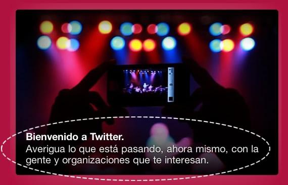Twitter mensaje y resumen