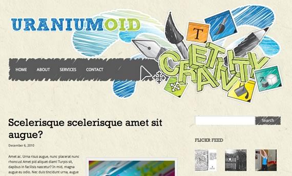 Vista previa de plantilla para Wordpress de ilustrador