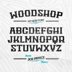 Vista previa de fuente tipográfica WoodShop