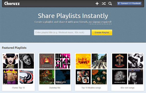 Crear playlists online