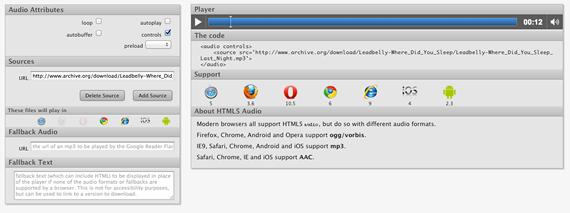etiqueta html5 audio