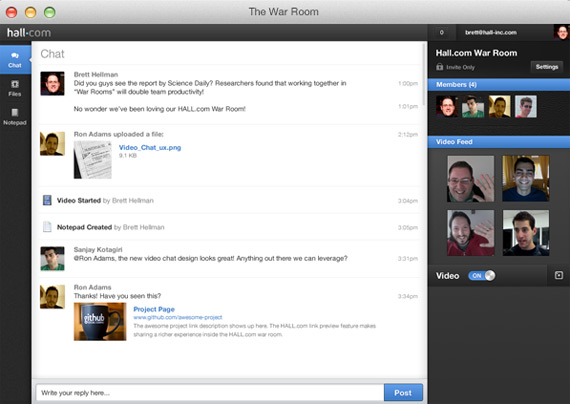 Salas de chat para proyectos