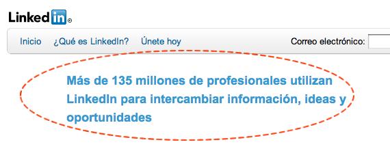 linkedin red profesional mensaje