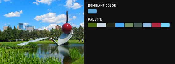 obtener el color dominante de una imagen con jQuery