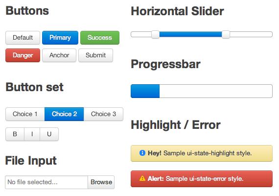 set de estilos UI para jQuery