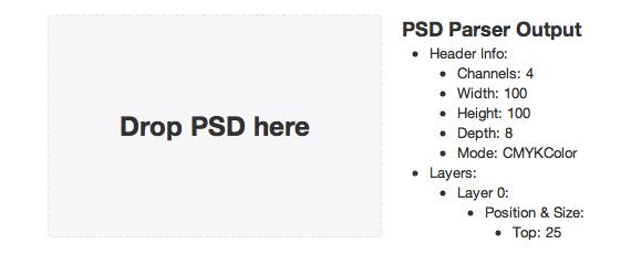 extraer la información de un archivo PSD con JavaScript
