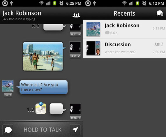Push to Talk en Android