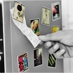 Fotografías de Instagram pegadas en el microondas