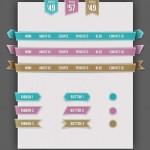 Vista previa de elementos UI efecto cinta