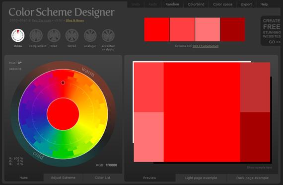 Generar paletas de colores