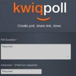 Encuestas gratis en segundos con Kwiqpoll